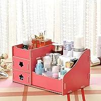 木質の化粧箱の多色の多規格のデスクトップのアイデアの木の化粧箱, スイカは赤いです