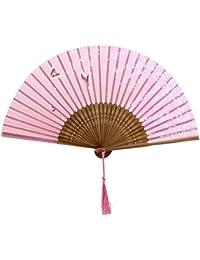 【ノーブランド品】高級扇子浴衣 着物 猛暑対策 節電 仮装 お祭り 装飾 夏の行事 シルク 蝶 桜 花