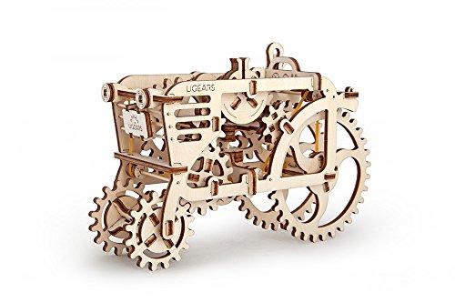 トラクターモデル 自分で組み立てて、ゴム動力で動く3Dパズル Ugears 日本正規販売 インテリアにも最適