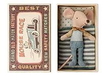 デンマークのぬいぐるみブランド Maileg メイレグ little brother mouse in the box ネズミの箱付きぬいぐるみ