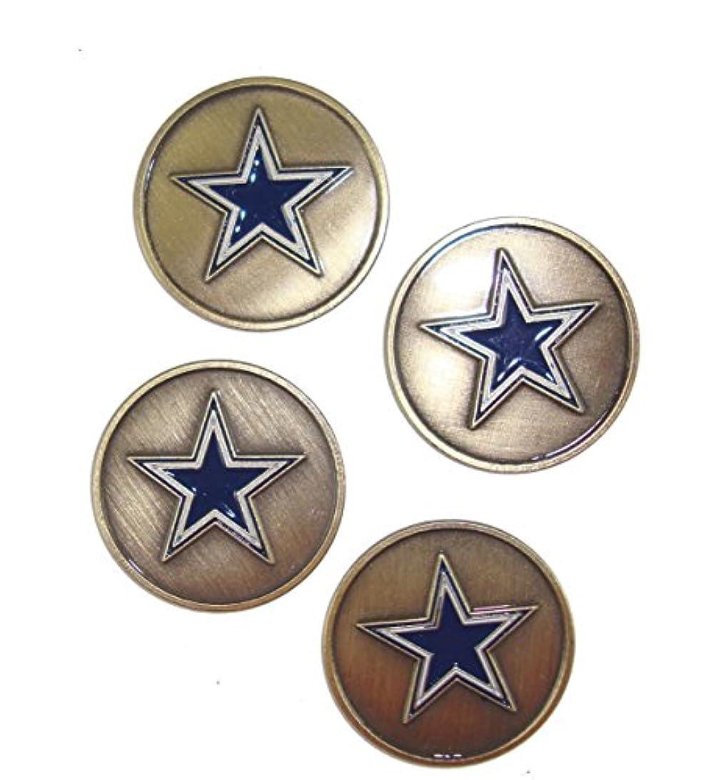 式広大なジェムDallas Cowboys Golf Ball Markers ( 4 Pack )