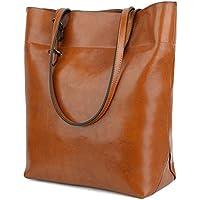 BIG SALE- 40% OFF- YALUXE Women's Soft Leather Work Tote Shoulder Bag (Upgraded 2.0)