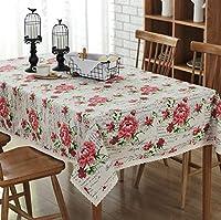 テーブルクロス、綿とバラ、プリントテーブルクロス、テーブルクロス、テーブルクロス、コーヒーテーブルクロス テーブルクロス-11.8 (Size : 140*250cm)