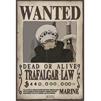 ONE PIECEのポスターは、募集トラファルガー·ロー(52x35)  ONE PIECE Poster Wanted Trafalgar Law (52x35)