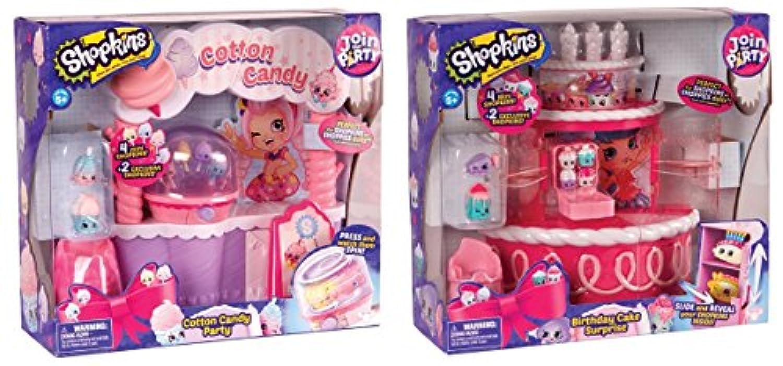 Shopkins Season 7 Birthday Cake Surprise PLUS Cotton Candy Party Playset