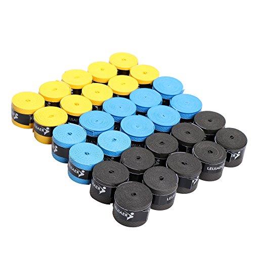 30本入り テニスラケット用 グリップテープ オーバーグリップ 滑り止め 超吸収タイプ バドミントン