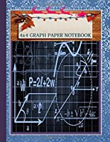 Graph Paper Composition Notebook: Gifts ideas For Christmas Season Blank Quad Ruled 4x4 Squared ,Paper for Math & Science for Kids & Students 8.5 x 11 Inches 120 pages: Wonderful as a gift, present, or personal notebook!