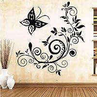 Hwhz 43 X 45 Cmかわいい蝶のアートステッカー防水壁ステッカーリビングルーム子供のための壁の壁画装飾壁画