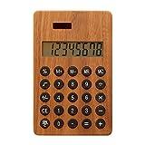 +LUMBERbyHacoa SOLAR POWERD CALCULATOR WIDE 大判の木製ソーラー電卓 (Walnut)の写真