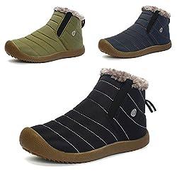Luerman ムートンブーツ メンズ レディーススノーブーツ 防水ショートウィンターブーツ 雪靴防寒 裏起毛 超軽量