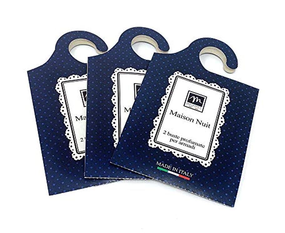 五組み合わせるバルコニーMERCURY ITALY 吊り下げるサシェ(香り袋) MAISON イタリア製 メゾン?ニュイの香り/Maison Nuit 2枚入り×3パック [並行輸入品]