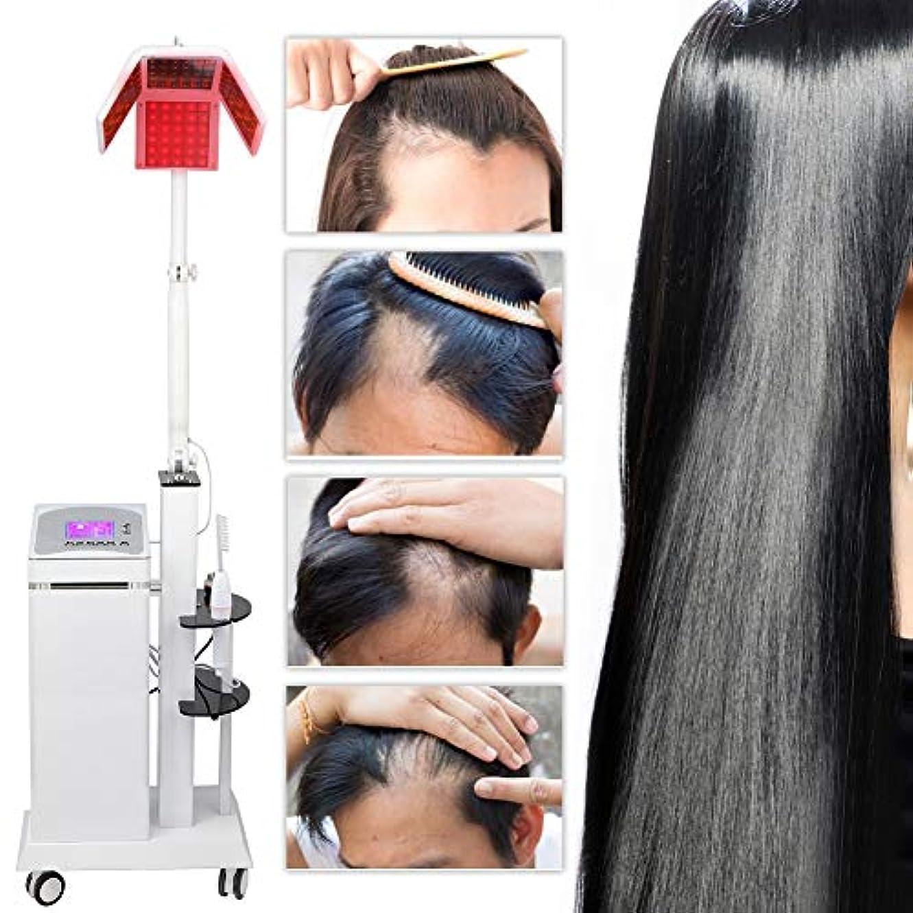 静かににおい繁殖脱毛機、ユニセックスアンチ脱毛クリアシンニングヘルメットシステム成長器具ヘアケアジェネレーターデバイス