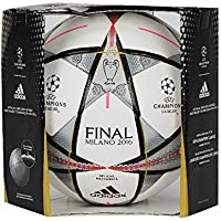 Adidas Finale Milano Official Match Football – サイズ5 – ホワイト/ブラック/シルバーMet – サイズ5