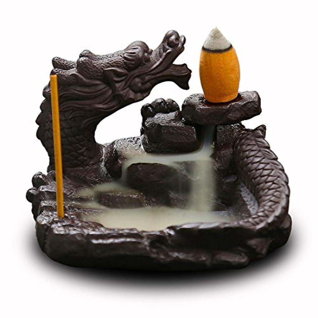 野球る改修する(Style6) - OTOFY Mythical Dragon Backflow Incense Holder Figurine Incense Cone Holder Gothic Home Decor