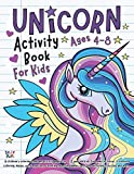 Unicorn Activity Book for Kids ages 4-8: A children's coloring book and activity pages for 4-8 year old kids. For home or travel, it contains coloring, mazes, word searches, counting, guessing games, spot the difference puzzles and more.
