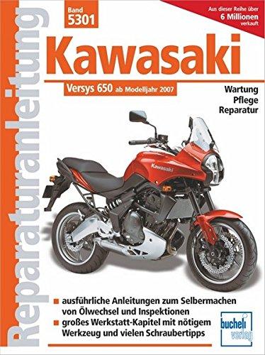 Kawasaki Versys 650 ccm: mit und ohne ABS ab Modelljahr 2007