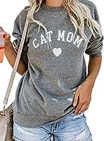 JINTING Dog Mom Tee Shirt Sweatshirt Women Long Sleeve Letter Print Funny Cute Graphic Lightweight Sweatshirt Pullover Top Size XL(US 10-12) (Grey) [並行輸入品]