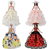 (ムイ) MUYI ドール 人形 フィギュア用 バービー ため ウェディング パーティー ドレス 4枚