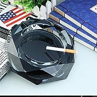 灰皿 豪華な灰皿透明な多角形のクリスタルガラスパーソナライズギフト 灰皿・喫煙具 (色 : Silver, Size : 20cm*20cm)