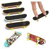 amzmonnsuta 5個入り 指スケ おもちゃ 指 スケートボード ミニ 携帯便利 大人 子供 フィンガーボード