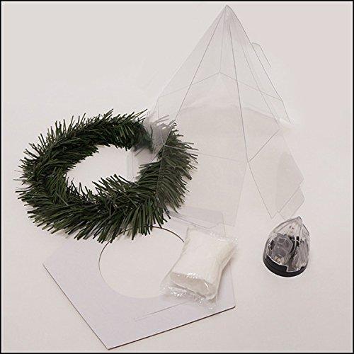クリスマス手作り工作キット クリスマスツリーハウス作り 工作キット 粘土付、ランプ付   21864