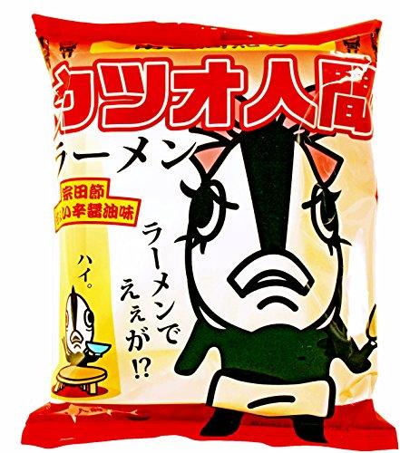 南国高知のカツオ人間ラーメン 高知県 宗田節ちょい辛醤油味 インスタントラーメン 袋 102g