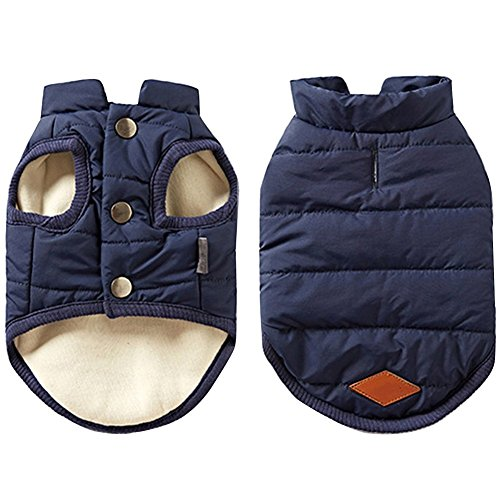 Yoyoshop 犬服 ペット服 洋服 パーカー ジャケット ベスト ドッグウェア 冬服 コン L