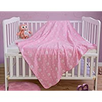 PHF Baby Muslin Swaddle Blanket 100% Cotton 41 x 41 Pack of 2 Blue and Pink [並行輸入品]