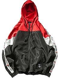 Fly Year-JP 縫い目長袖バギーサイズ薄ジャケットコートの上に新しいレジャー色メンズパーカー