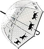 大西賢製販 ビニール傘 ドーム型/ドット 58cm 黒猫 APUM-1303