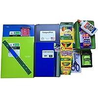 Back to School SuppliesバンドルIncludes Crayolaマーカー/色鉛筆/クレヨン、Elmers接着剤/接着剤スティックコンポジションブック、ワイドルールド、鉛筆ボックス、5つ星Foldrs and More。
