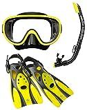 リーフツアラー マスク シュノーケル フィン 3点セット RP0102 ブラックフラッシュイエロー Lサイズ