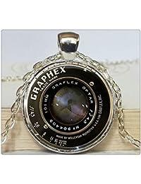 ヴィンテージカメラレンズネックレスカメラのペンダントカメラのジュエリー写真家のギフト写真家ジュエリー