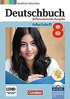 Deutschbuch 8. Schuljahr. Arbeitsheft mit Loesungen und Uebungs-CD-ROM. Differenzierende Ausgabe Nordrhein-Westfalen