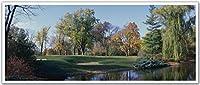 JPロンドンPAN5234 uStripゴルフサンドトラップレイク18thホール高解像度ピールスティックリムーバブル壁紙ステッカー壁画