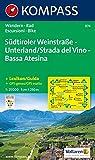 Suedtiroler Weinstrasse - Unterland / Strada del Vino - Bassa Atesina 1 : 25 000: Wanderkarte mit Aktiv Guide und Radrouten. GPS-genau