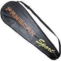 調整可能なショルダーストラップバドミントンラケットカバーバドミントンラケットバッグテニスバッグ(2ラケット)、a