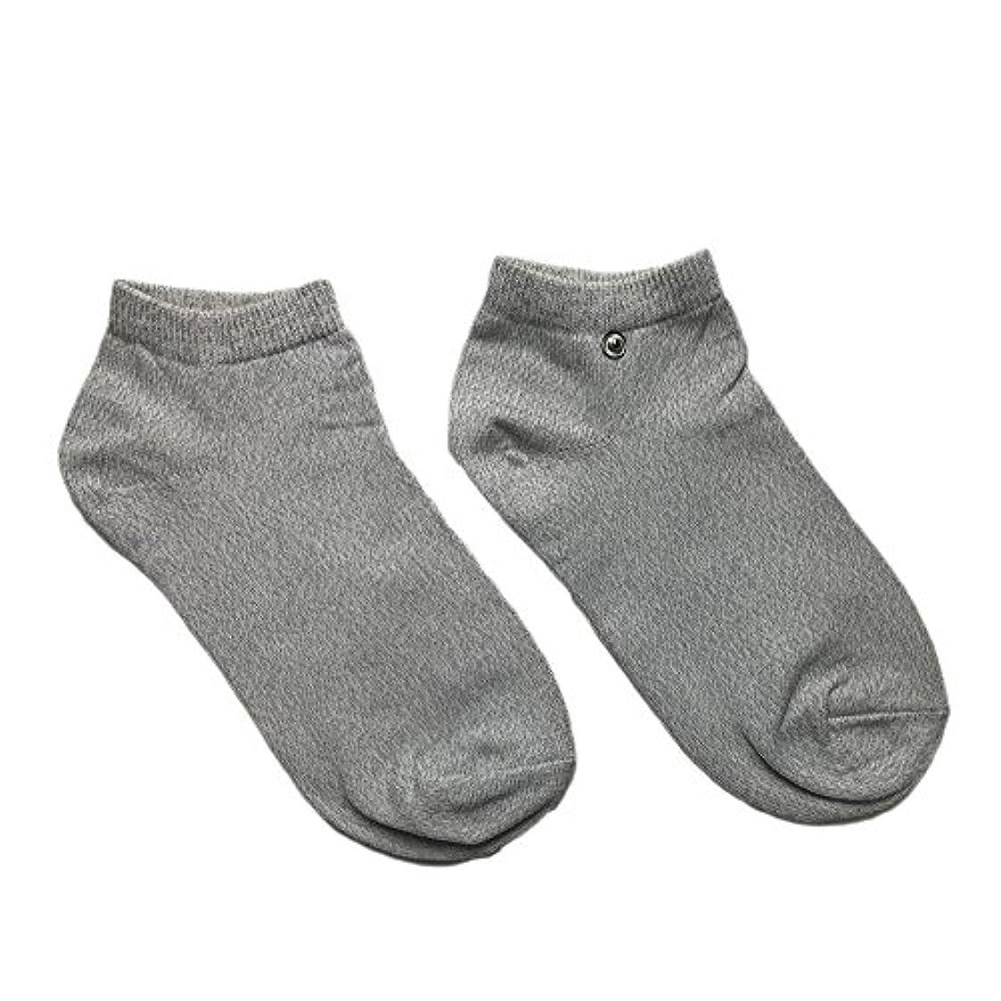 課税残りアヒルriraku-life(??????) 大地と繋がるアーシング健康法用 アーシングソックス(low) 導電性靴下 (M)
