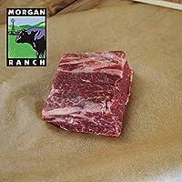 モーガン牧場ビーフ アメリカ産牛肉 熟成 高品質 厚切り ショートリブステーキ アメリカンビーフビーフ ホルモン剤や抗生物質不使用 160g x 5枚