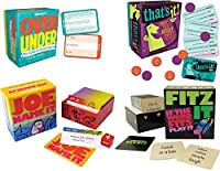 Port-A-Party, Portable Party Games Gift Set: Over/Under - The Game of Guesstimates, Joe Name It, That's It Just The Right Party Game, Fitz it