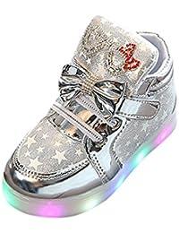 子供靴 Yolaird キッズシューズ 女の子 男の子 LEDライト 運動靴 光る夜光靴 LEDシューズ スニーカーシューズ パール 外出 軽量 滑り止め アウトドア ファッション