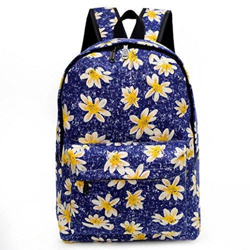 gbsellレディースガールズキャンバスDaisy旅行用デイパックキャンパスバックパックラップトップバッグ