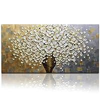 desihum-3dオイル絵画キャンバス 24*48 inch(60*120cm) ホワイト DS009-60120