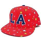 ハッピーハット キッズ 帽子 キャップ 輝きラメMIX星柄 アンダーバイザー レッド kids-254-02