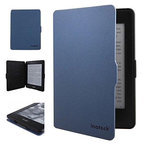 Inateck Kindle Paperwhite用 Microfibril PU レザーケース マグネット付き ブルー(Kindle Paperwhite専用)