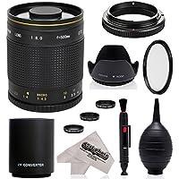 スーパー500mm / 1000mm f/8 ミラー望遠レンズ Nikon D5、D4S、DF、D4、D3X、D810、D800、D750、D700、D610、D500、D300、D90、D7200、D7100、D5500、D5300、D5200、D5100、D3300、D3200 デジタル一眼カメラ