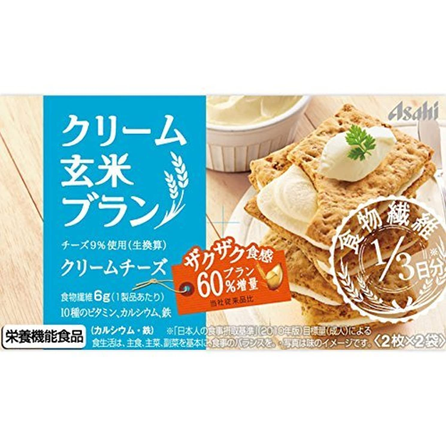 今日水分幹アサヒフードアンドヘルスケア バランスアップ クリーム玄米ブラン クリームチーズ 2枚X2袋
