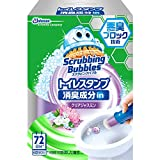スクラビングバブル トイレ洗浄剤 トイレスタンプ 消臭成分in クリアジャスミンの香り 本体(ハンドル1本+替え1本) 38g
