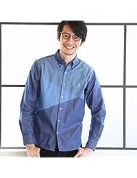 コーエン(メンズ)(coen) ブロック切り替えボタンダウンシャツ