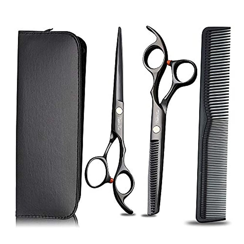 スーパーマーケット領収書記念日プロの理髪はさみと髪の洗練はさみをサロンの理髪店と家庭用に設定、黒